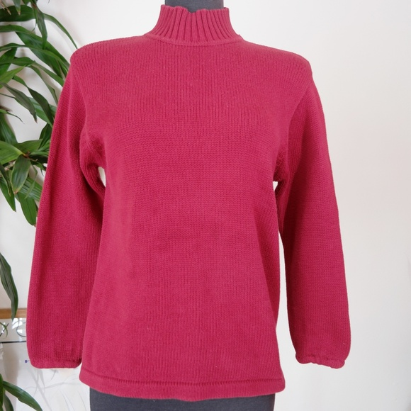 Eddie Bauer - Eddie Bauer Brick Red Knit Turtleneck Sweater from ...
